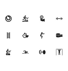 Set of 12 editable lifestyle icons includes vector