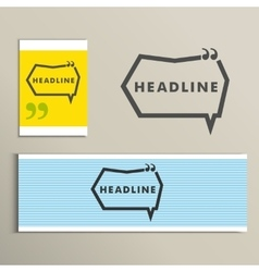 Set simple banners with speech bubbles vector