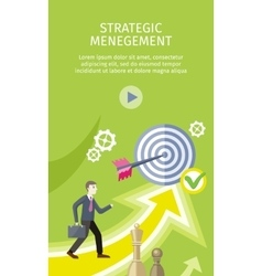 Strategic management concept vector