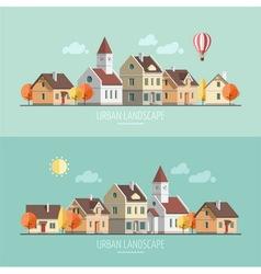 Urban landscape autumn vector
