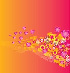 Valentines day grunge background vector