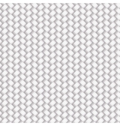 White seamless wicker pattern vector
