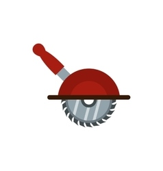 Circular saw icon flat style vector