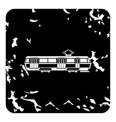 Tram icon grunge style vector