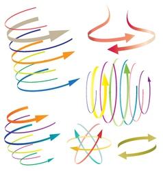 world arrow vector image