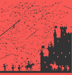 Siege of the castle vector