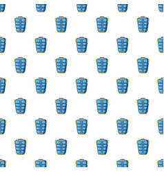 Blue warm vest pattern vector