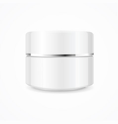 Realistic cream can cosmetic product vector