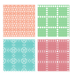 Seamless geometric line pattern in stencil style vector