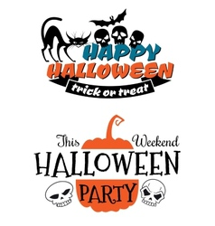 Halloween party banner and poster vector
