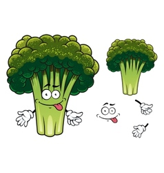 Cartoon broccoli character vector