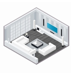 Living room isometric set vector