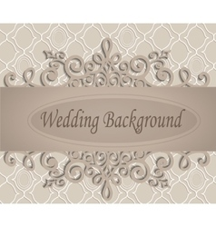 Beige wedding background vector
