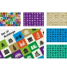 A set of houses vector