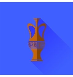 Amphora icon isolated vector