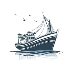 Fishing boat 3 vector