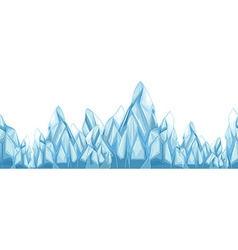 Seamless iceberg with sharp points vector