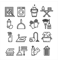 Household appliances and tools icons set vector
