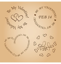 Romantic design elements for valentines day vector