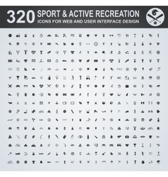 Sport and active recreation icon set vector