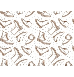 Monochrome boots seamless pattern vector
