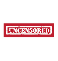 Red stamp uncensored vector