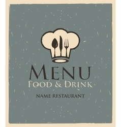 Menu with toque and cutlery vector
