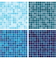 Background tiled blue mosaic set eps 10 vector