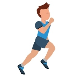 Person jogging icon design vector