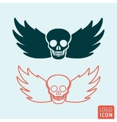 Skull icon isolated vector