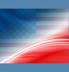 Background with the outline of the us flag vector