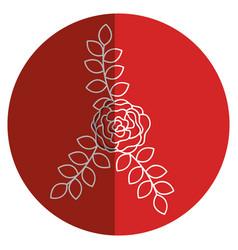 Beautiful rose decoration icon vector