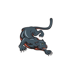 Black Panther Crouching Cartoon vector image vector image