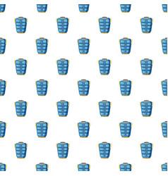 blue warm vest pattern vector image vector image