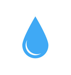 blue water drop symbol simple flat icon vector image