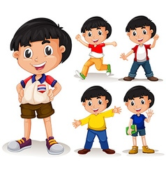 Boy with black hair vector