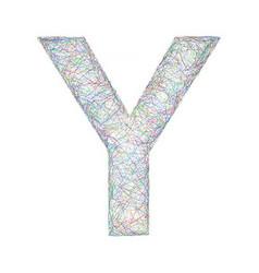 Colorful sketch font design - letter Y vector image vector image