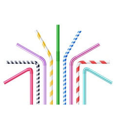 Drinking straws realistic vector