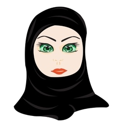 East woman in hijab vector