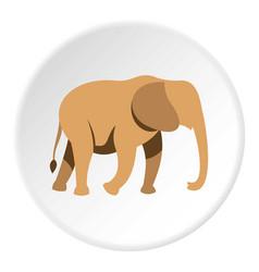 Elephant icon circle vector