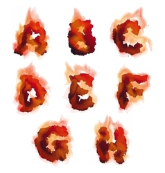 English burning alphabet vector image vector image