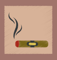 Flat shading style icon cuba cigar vector