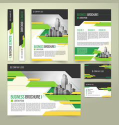 flyer cover design business brochure and vector image