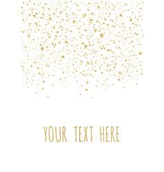 Gold star shine confetti pattern falling vector
