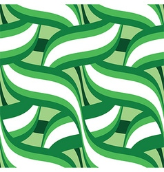 Green floral seamless vector