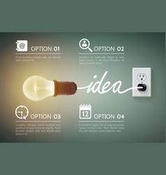 incadescent light bulb concept vector image vector image