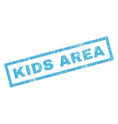 Kids area rubber stamp vector