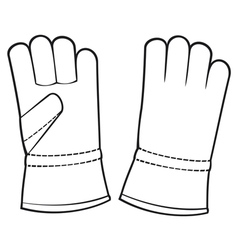 leather gloves vector image vector image