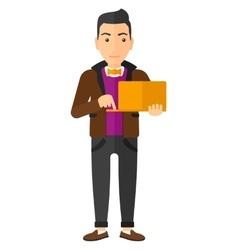 Man using laptop vector image