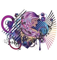 Music Girl6 vector image